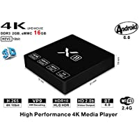 [2GB/16GB]Android 6.0 TV BOX, X11 Amlogic S905X Quad Core A53 Support 4K 2K H.265 2.4G Wi-Fi 4K Smart TV Box