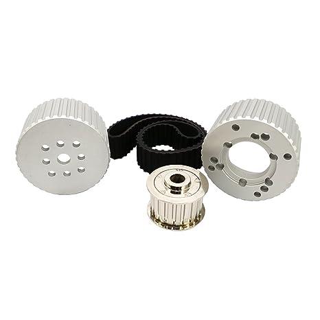Small Block Chevy SBC SWP Direct Drive Aluminum Water pump Pulley kit Short 1:1