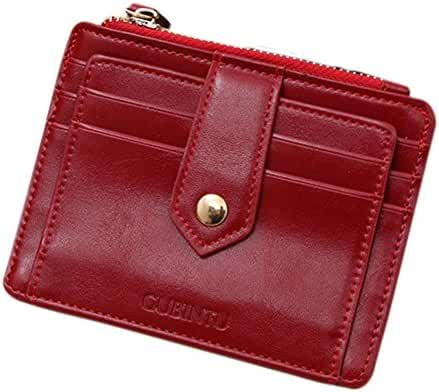 Wallet,toraway Mini Leather Zipper Credit Card Id Holder Money Clip Wallet