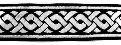 10m celtique galon webband 35mm couleur: noir/argent de 1a de mercerie 35069de swsi 1A-Kurzwaren