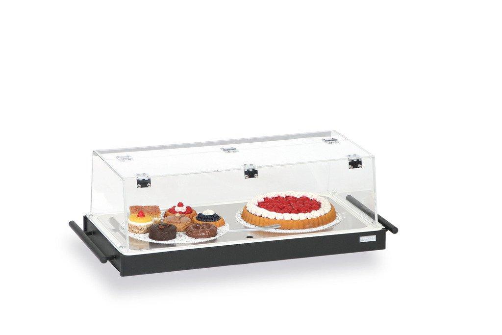 Kühltablett - mit Plexiglashaube und 3 Kühlakkus Rahmen schwarz - Kühltablett Kühltabletts Tablett Zubehör