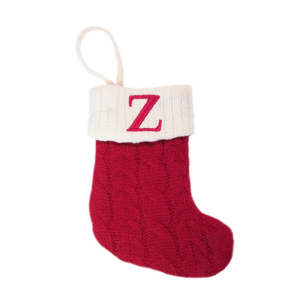 Amazon.com: St Nicholas Square Monogram Knit Christmas Stocking ...