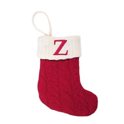 Letter Christmas Stockings.St Nicholas Square Monogram Knit Christmas Stocking Letter Z Mini 7