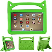 Riaour All-New Fire 7 2017 Case, Kids Shock Proof Protective Cover Case for Amazon Fire 7 Tablet (Compatible with 5th Generation 2015/7th Generation 2017) (Green)