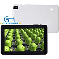 Goldengulf Newest 9 Inch With Latest Google Android 4.4 KitKat WiFi + 3G Quad Core, Dual Camera Multi Touch Screen Tablet PC