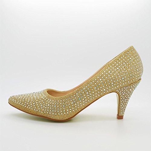 Kitten Gold Donna Calzature Tacco Da Vonda London Heels Con 7IqTfT