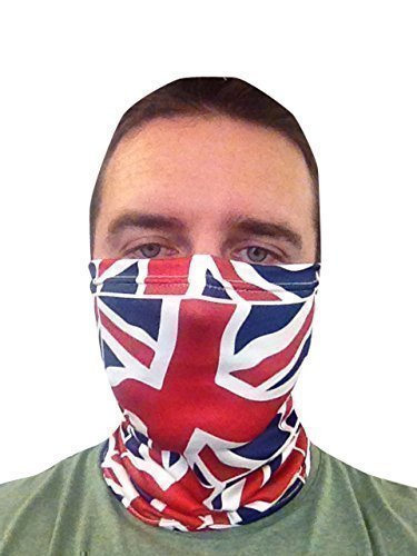 ed792215b59 NECK WARMER SCOOTER FACE MASK SCARF UNION JACK DESIGN MADE IN ...
