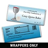 First Communion Favors Holy Host Personalized Wrappers for HERSHEY'S Milk Chocolate Bars (25 Wrappers)