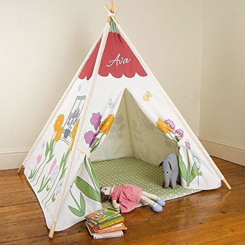 Kinder Tipi - Sommer Cottage - Designiert, Bedruckt & handgefertigt in Großbritannien - Personalisiert, Indoor & Outdoor + Padded Floor