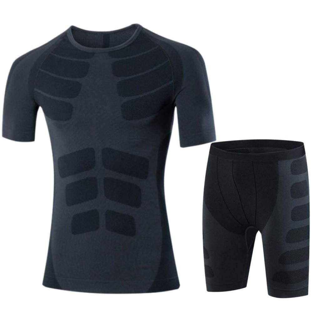YZstore Fitness-Kleidung Herren schnell trocknende Stretch-Strumpfhose Fitness-Training Laufbekleidung Outdoor-Sportbekleidung