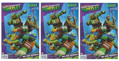 Amazon.com: TMNT Ninja tortuga gigante para colorear y libro ...