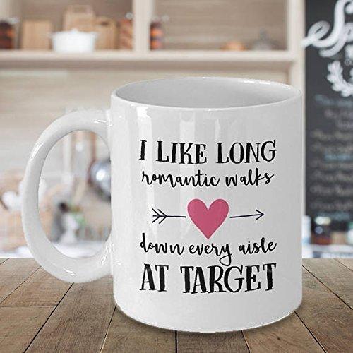 Walks down every aisle at Target Mug, Target Mug, Funny gift for wife, Funny Mug, Funny Christmas gift long romantic, Wedding Gift, Gift for Her, 11oz - Maui Target In