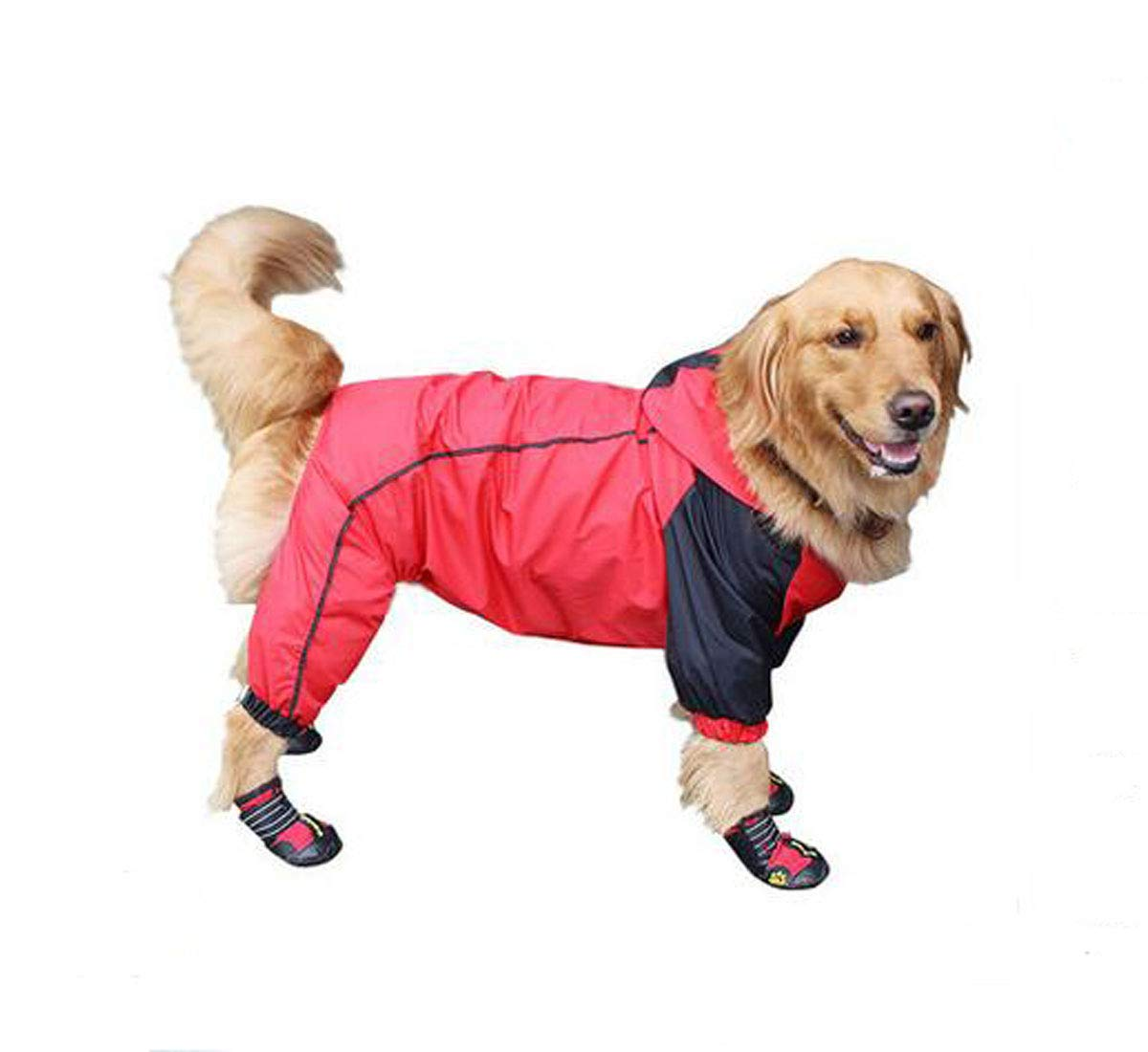 Red 7XL Red 7XL Hongyushanghang Big Dog Raincoat, Pet Summer Thin Waterproof Suit fine (color   Red, Size   7XL)