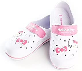 Hello Kitty Lovely Kids Casual Shoes for Girls Clogs Summer Beach Pool Spa Water White US