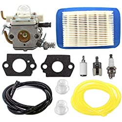 AISEN CARBURETOR AIR FILTER FUEL LINE FOR ZAMA C1M-K77 ECHO PB403H PB403T PB413H PB413T PB460LN PB461LN
