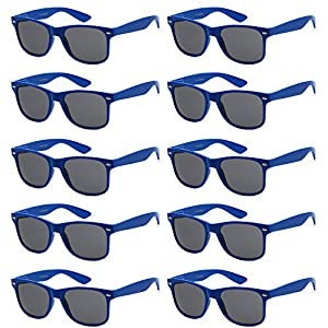 Wholesale Unisex 80's Retro Style Bulk Lot Promotional Sunglasses - 10 Pack