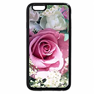 iPhone 6S / iPhone 6 Case (Black) Pink Rose