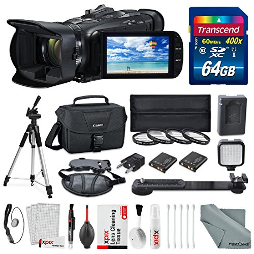 Canon VIXIA HF G40 Full HD Camcorder with Deluxe Accessory Bundle and Starter Kit