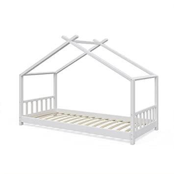 Vicco Kinderbett Hausbett Design 90x2000cm Kinder Bett Holz Haus ...
