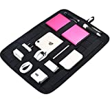 Dshall Electronic Organizer Board Universal Cable Organizer for Digital Accessories
