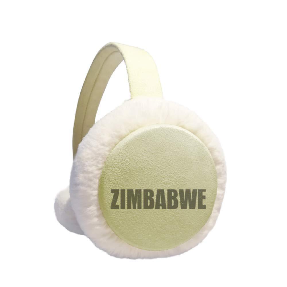 Zimbabwe Country Name Winter Warm Ear Muffs Faux Fur Ear