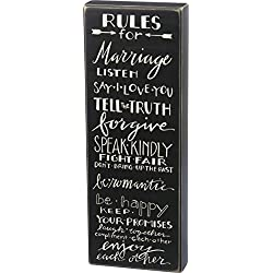 Primitives by Kathy Classic Box Sign, Rules for Marriage
