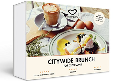 Citywide Brunch for Two in New York Experience Gift Card NYC - GO DREAM - Sent in a Gift Package (Best Borough In Nyc)