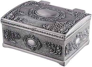 Feyarl - Caja de joyería para pendientes, anillos, diseño vintage: Amazon.es: Hogar
