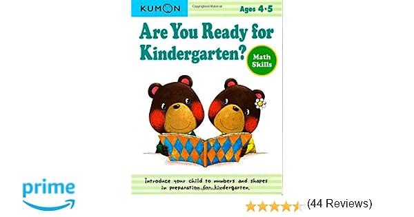 Are you Ready for Kindergarten?: Math Skills: Kumon: 9781934968833 ...