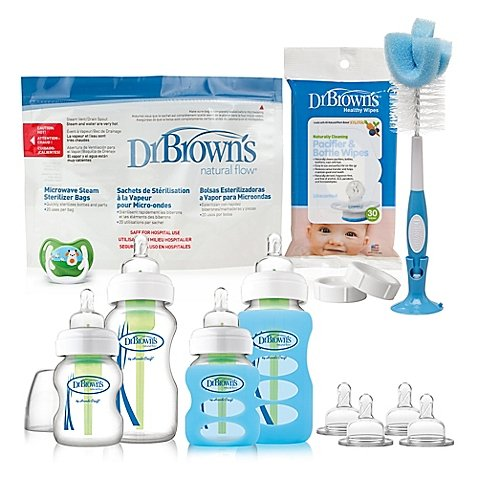 Dr. Brown's Options Glass Bottle Gift Set | 30-Pack of Pacif