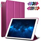New iPad 9.7-inch 2018 2017 Case, ROARTZ Metallic Magenta Slim-Fit Smart Rubber Folio Case Hard Cover Light-Weight Wake Sleep For Apple iPad 5th 6th generation Retina Model A1893 A1954 A1822 A1823