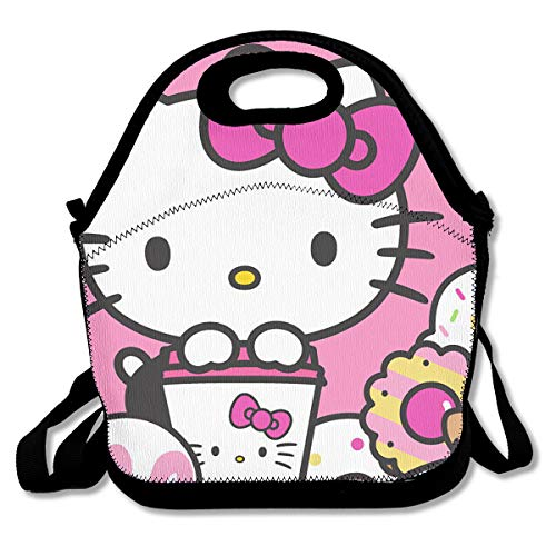 Meirdre Lunch Box Hello Kitty Cafe Insulated Personalized Tote Lunch Food Bag