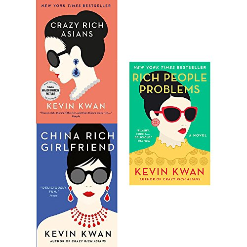 Book cover from Crazy rich asians, china rich girlfriend and rich people problems 3 books collection set by Kevin Kwan