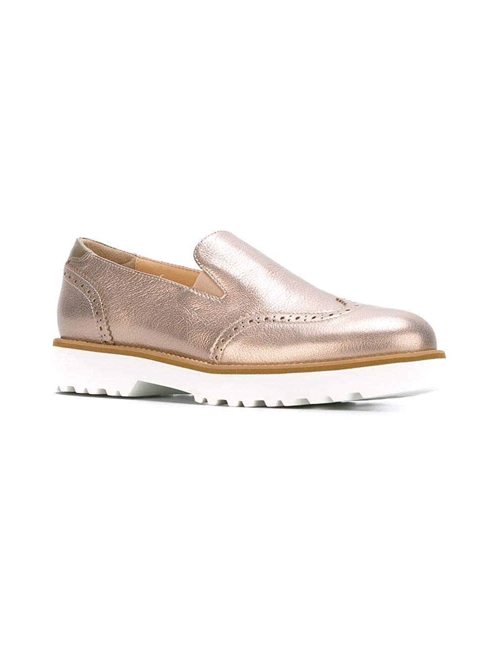 Hogan Hogan Hogan Damen HXW2590R330CJ6M024 Gold Leder Slip On Turnschuhe 29138e