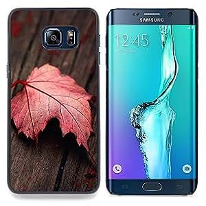 "Qstar Arte & diseño plástico duro Fundas Cover Cubre Hard Case Cover para Samsung Galaxy S6 Edge Plus / S6 Edge+ G928 (Hoja roja"")"