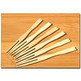 Büffet-Gabeln, Holz, 9cm, 100 Stück