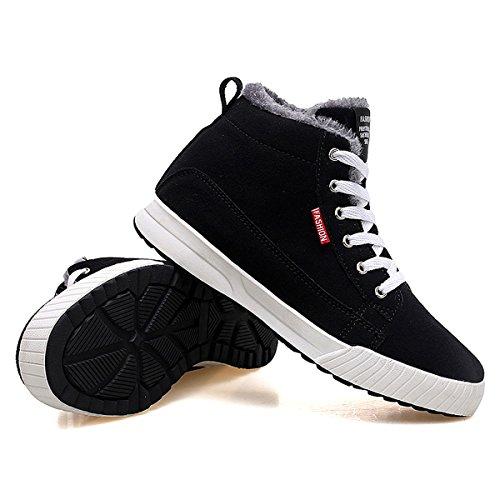 Plates Bottines Sneakers Neige Gracosy Femmes Noires Avec Chaude Fourrées De Hiver Confortable Bleu Montantes Chaussures Intérieur Enfants Hommes Ville Fourrure Bleues Boots Baskets xYYzCAqw