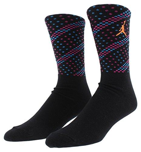 Nike Spike 40 Crew Sock Socks Line Michael Jordan Unisex multi-coloured Negro / Azul / Rosa / Naranja Size:Large by NIKE