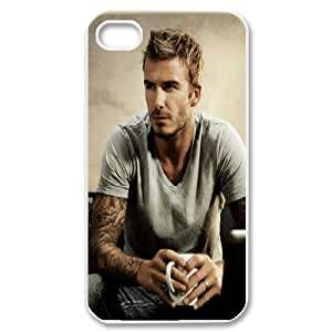 IPhone 4/4s Case David Beckham a Man That Has Faced Criticism Throughout His Career but Has Always Bounced Back to Bee an Icon for Many Fans and Professionals Within the Game Itself and Beyond., IPhone 4/4s Case David Beckham for Guys, [White]