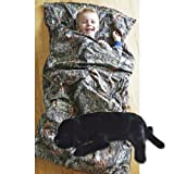 Camo Kids Mossy Oak Breakup Slumber Sleeping Bag & Animal Pillow (Black Lab Pillow)