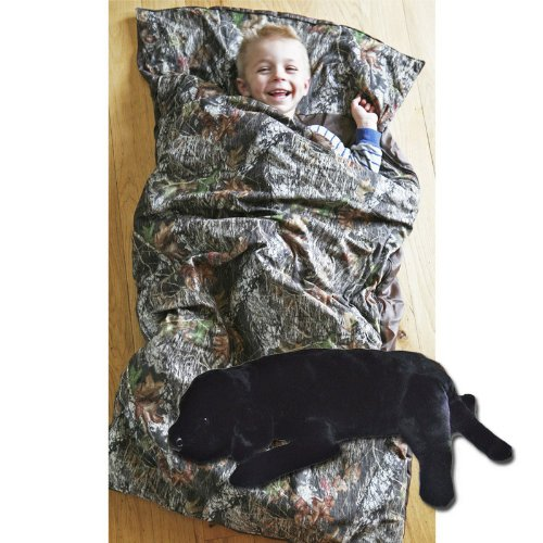 Camo Kids Mossy Oak Breakup Slumber Sleepingバッグ&実習枕動物枕(ブラック) B00JD2BU6E