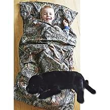 Camo Kids Mossy Oak Breakup Slumber Sleeping Bag & Animal Pillow (Black Lab Pillow)