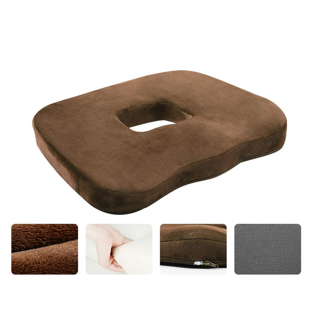 Comfortable Memory Cotton Pad, Office Tail Vertebra Hemorrhoids Pad, Postoperative Prostate Postpartum Cushion for Pain Relief in The Tailbone and Lower Back,E