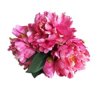 Artificial Flowers,Vibola® Artificial Peony Silk Flower Leaf Home Wedding Party Decor 89