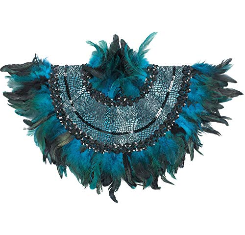 Peacock Feather Collar Halloween Costume Accessories, One Size, by Amscan]()
