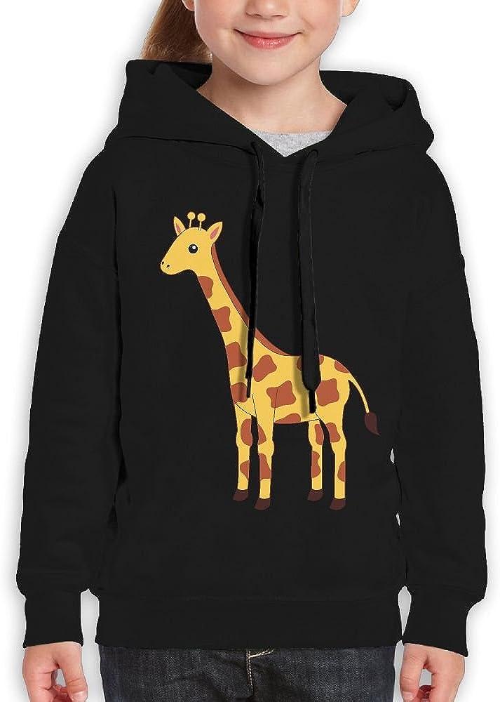 DTMN7 Giraffe Cute Funniest Printed Long Sleeve Hoodie For Youth Spring Autumn Winter