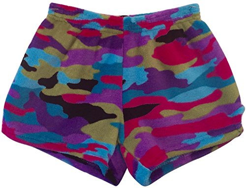 Made with Love and Kisses Girl's Fuzzy Plush Pajama/Loungewear Shorts - Funky Camo - 12/14 by Made with Love and Kisses (Image #1)