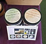 Whipped Shaving Cream, Peaches & Cream, Cucumber Melon, Gentle Formula, No Dry Skin. Handmade homemade