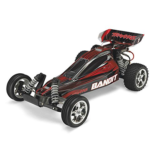 Traxxas 24054-1 Bandit 1/10 Scale 2WD Off-Road Buggy with TQ 2.4GHz Radio, Red