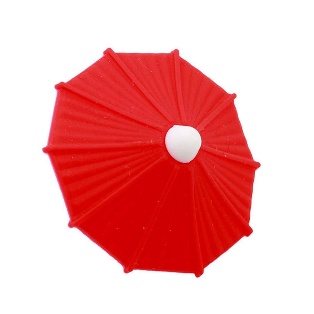 JUSTDOLIFE 6PCS Creative Silicone Umbrella Wine Glass Marker Party Favor Wine Glass Charm
